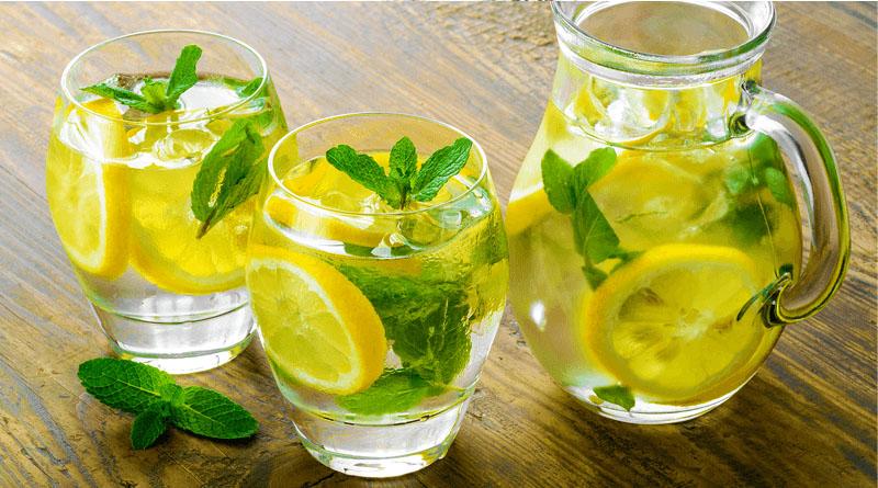 Natural Drink Cucumber, Lemon and Orange to Boost Metabolism